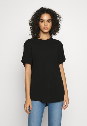 LASH FEM LOOSE ROUND SHORT SLEEVE - T-Shirt basic - black