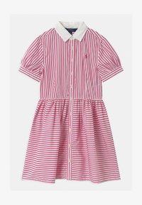 Polo Ralph Lauren - STRIPE - Košilové šaty - pink/white - 0