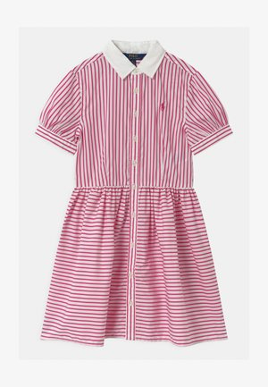 STRIPE - Shirt dress - pink/white