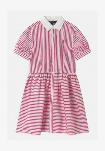 STRIPE - Shirt dress - pink/white