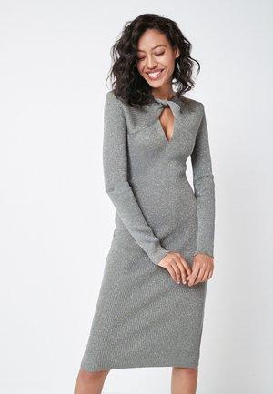 TWIST NECK - Shift dress - khaki