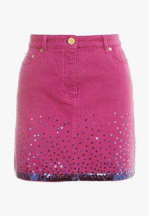SKIRT - Denim skirt - fucsia