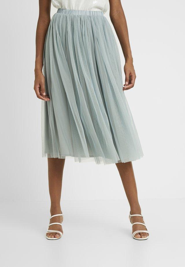 VAL SKIRT - Áčková sukně - teal