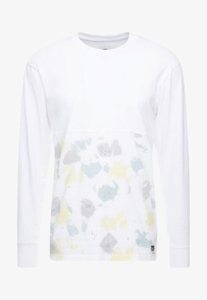 ELEVATED TIE DYE - Long sleeved top - white