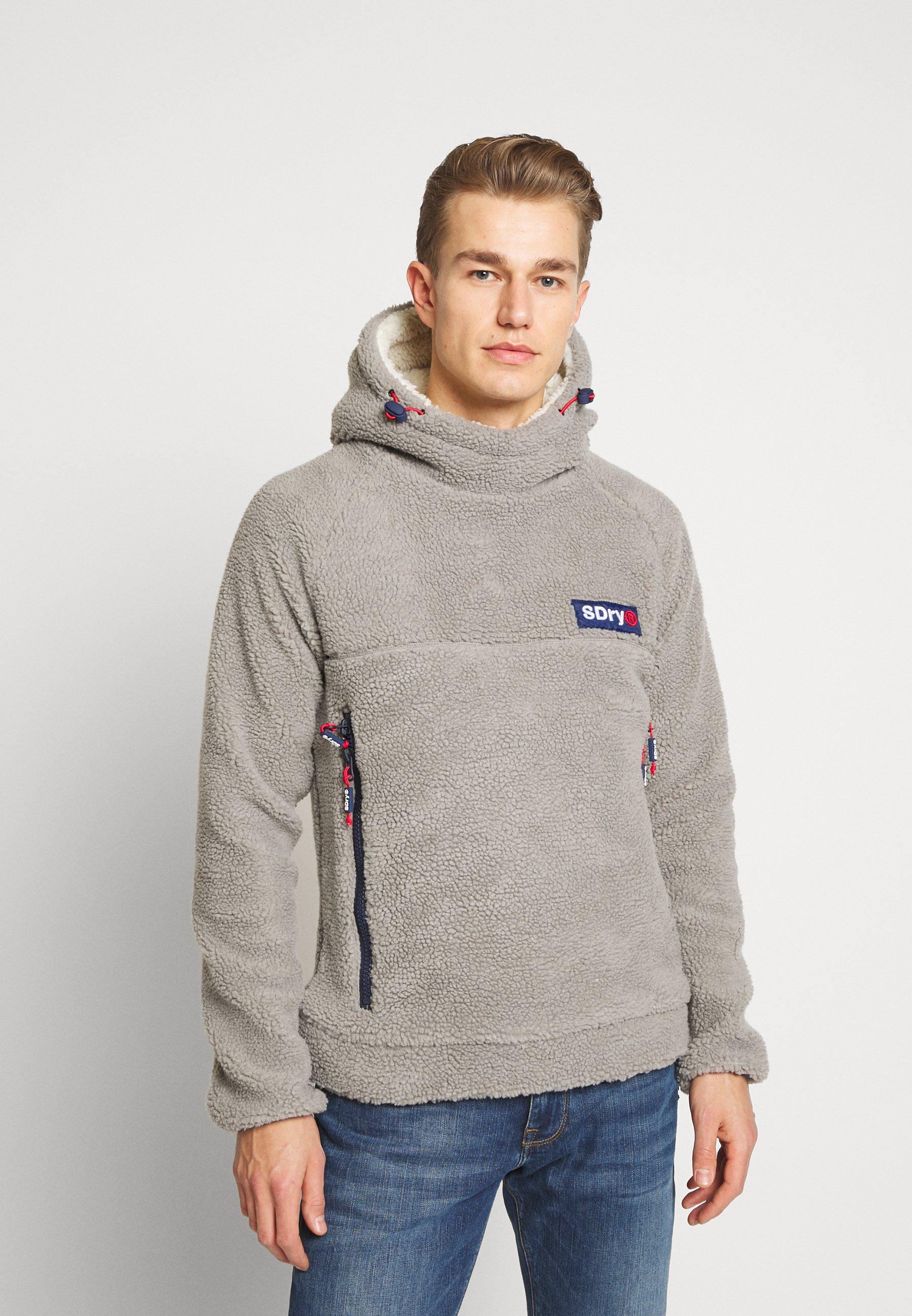 Superdry CELSIUS SHERPA - Sweat à capuche - mid grey