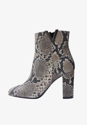 MIRKA - High heeled ankle boots - grey
