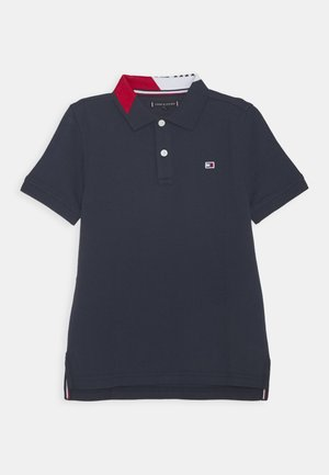 INTARSIA COLLAR - Polo shirt - blue