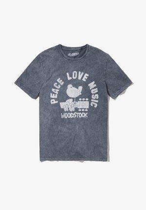 WOODSTOCK PEACE LOVE MUSIC - T-shirt print - grau