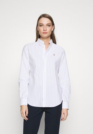 KENDAL - Button-down blouse - white/blue