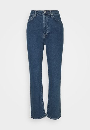 HIGH WAIST - Džíny Straight Fit - mid blue