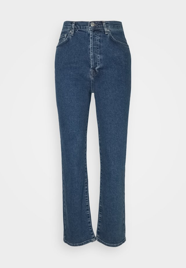HIGH WAIST - Jeans Straight Leg - mid blue
