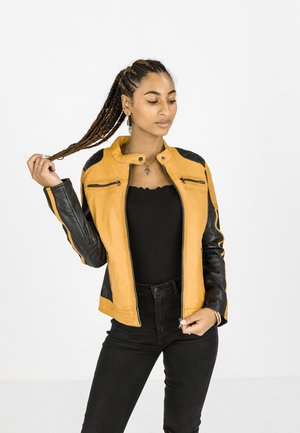 BUG - Leather jacket - gelb