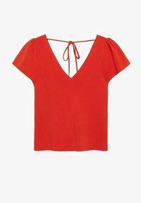 Mango - Print T-shirt - koraalrood - 4