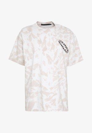 ROTATION BACK TIE DYE - Print T-shirt - biege