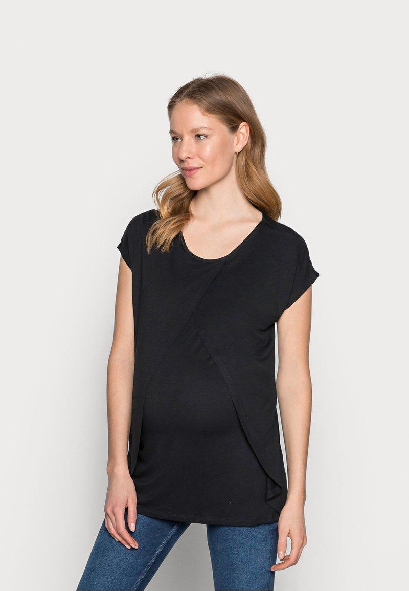 Anna Field MAMA - Print T-shirt - black
