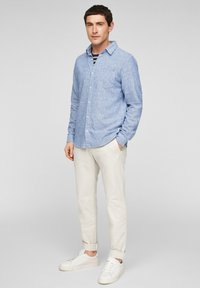 s.Oliver - Shirt - blue dobby - 1