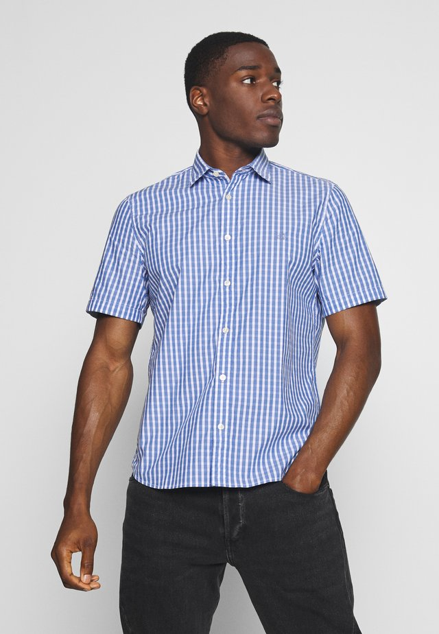 KENT COLLAR,SHORT SLEEVE,INSERTED - Skjorter - combo/cashmere blue