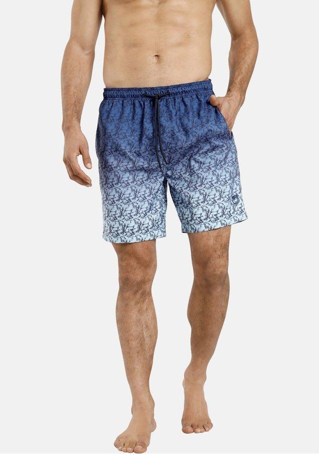HJORR - Short de bain - blau gemustert