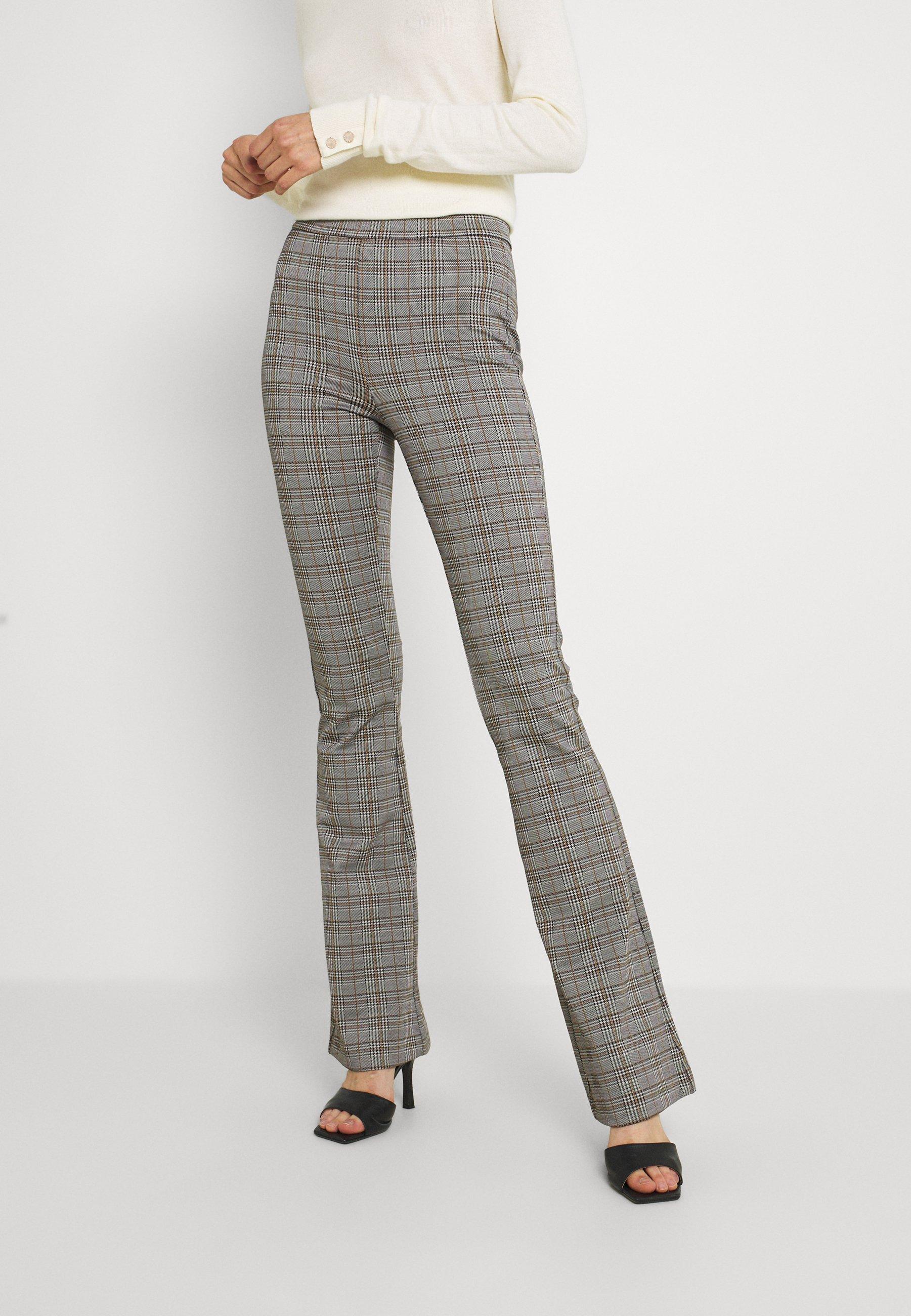 Mujer VMKAMMA FLARED CHECK PANT - Pantalones