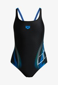 Arena - BRIZA SWIM PRO ONE PIECE SWIMSUIT - Maillot de bain - black/pix blue - 3