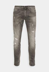 ANBASS AGED - Slim fit jeans - grey denim