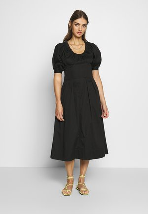 WAIST DETAIL MIDI DRESS - Denní šaty - black