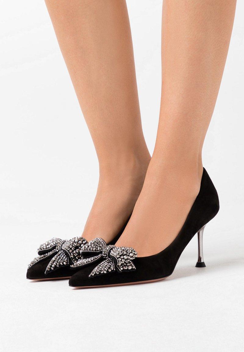 Oxitaly - LORY - Classic heels - nero/cana de fucile