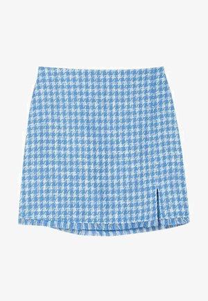 Mini skirt - mottled blue