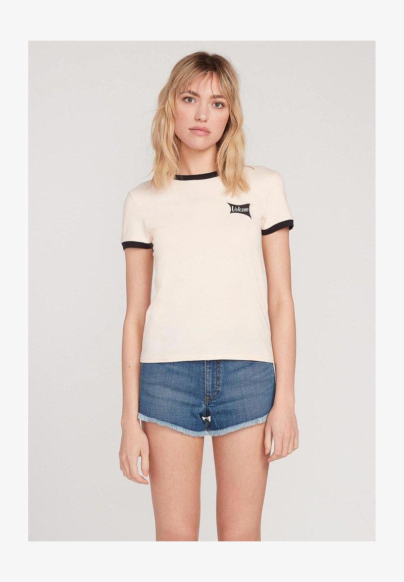Volcom - GO FASTER RINGER - Print T-shirt - light_peach