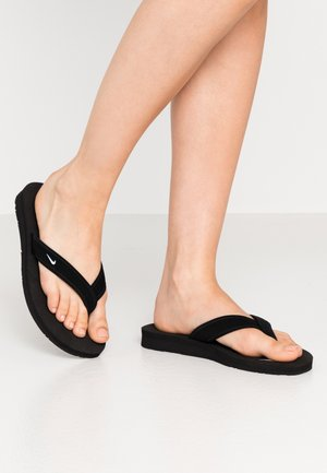 CELSO THONG - T-bar sandals - black/white