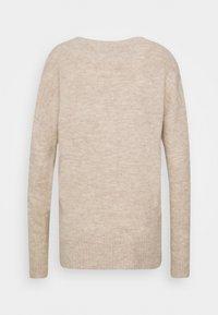 TOM TAILOR DENIM - COSY VNECK - Pullover - beige melange - 1