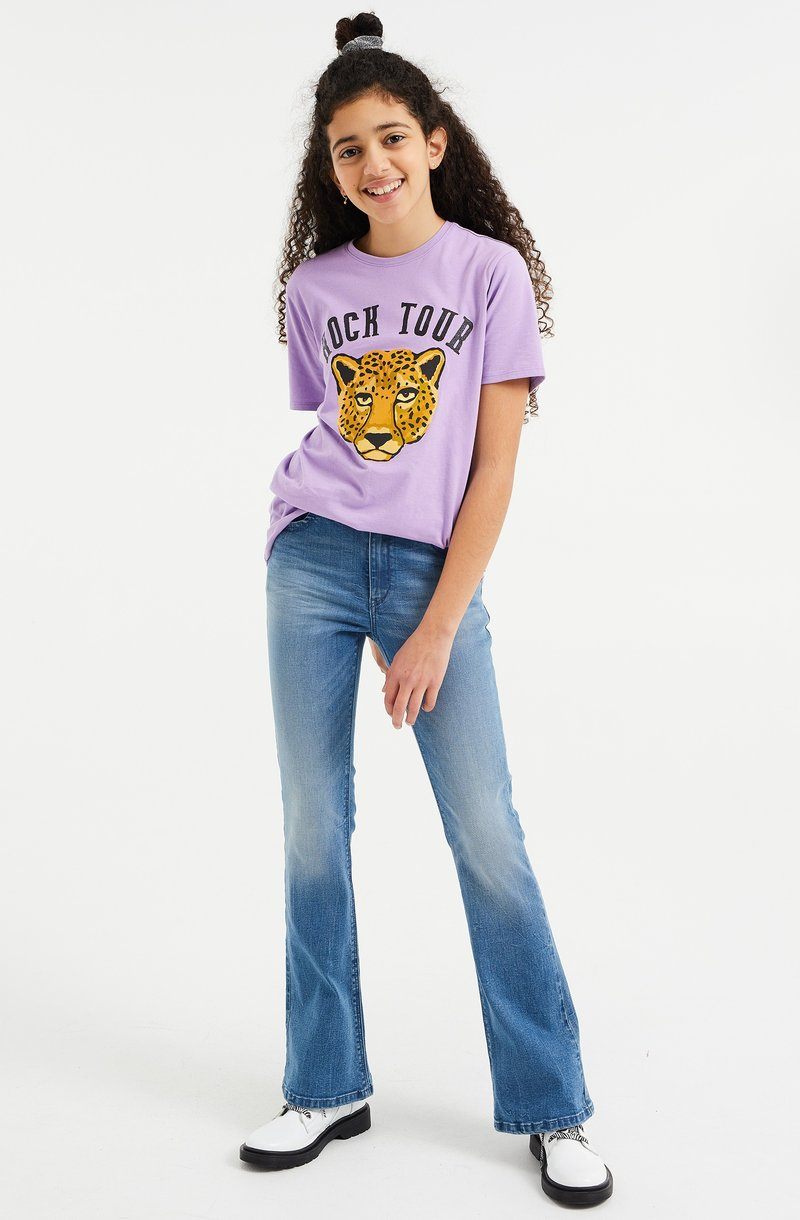WE Fashion - Print T-shirt - purple