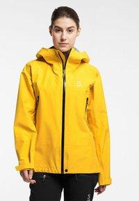 Haglöfs - HARDSHELLJACKE ROC GTX JACKET WOMEN - Hardshell jacket - pumpkin yellow - 0