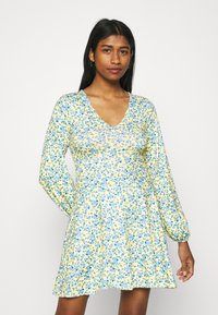 Missguided - DITSY SKATER DRESS - Jersey dress - yellow - 0