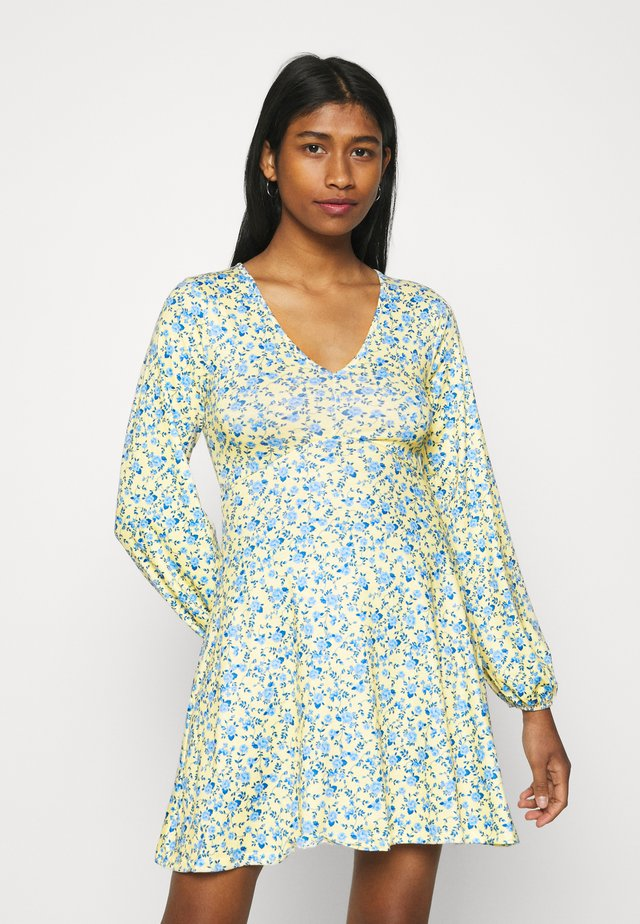 DITSY SKATER DRESS - Jersey dress - yellow