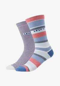 Levi's® - REGULAR CUT STRIPE STORY 2 PACK - Ponožky - white/blue/red - 1