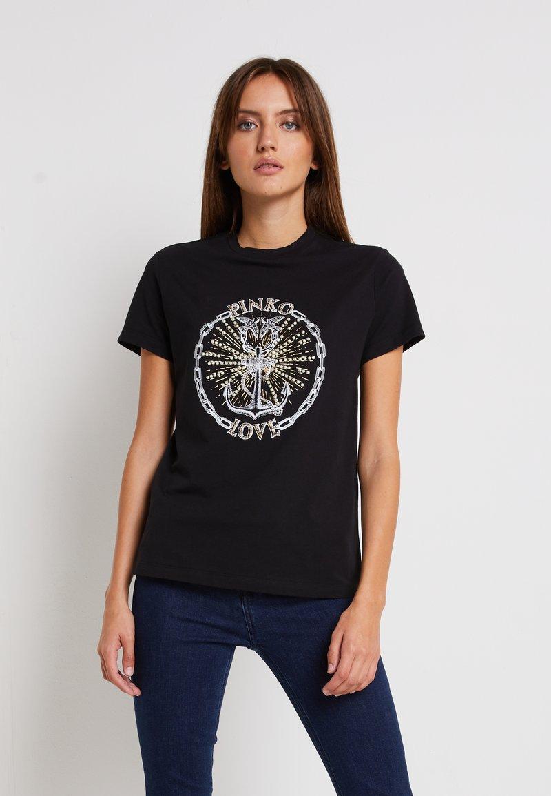 Pinko - EDGARDO - Print T-shirt - nero