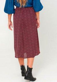 Noella - PAJA - A-line skirt - wine old rose flower - 2