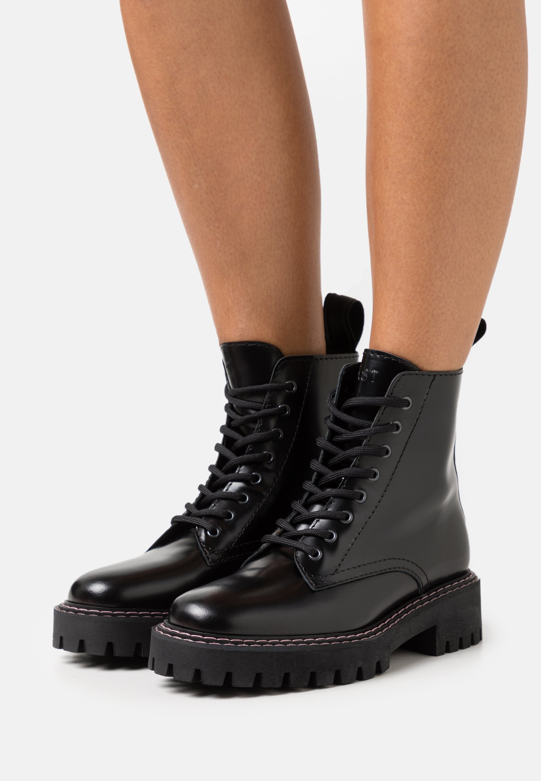 Women PAINT BOOT - Lace-up ankle boots