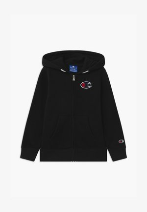 ROCHESTER CHAMPION LOGO HOODED FULL ZIP - veste en sweat zippée - black