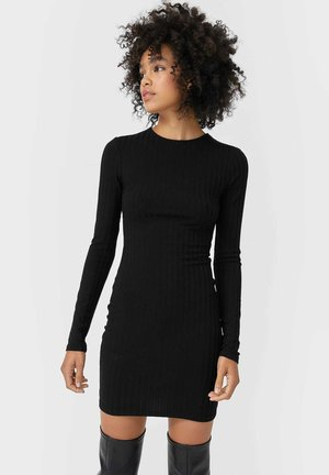 KURZES MIT SCHLITZ - Day dress - black