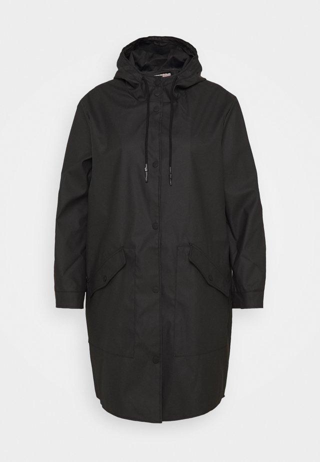 CARNEWSTATION RAINCOAT - Klasický kabát - black