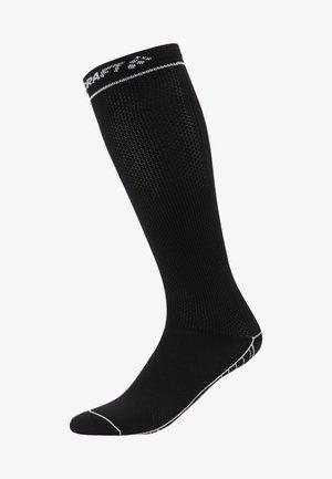 COMPRESSION SOCK - Sports socks - black/white