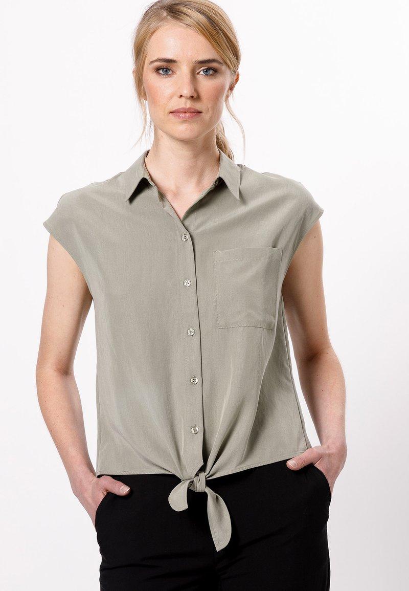 zero - Button-down blouse - sage