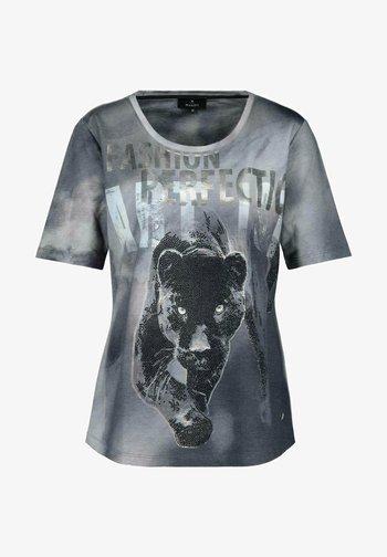 Print T-shirt - blue-grey