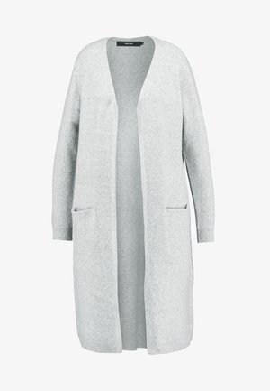 VMDOFFY LONG OPEN CARDIGAN - Cardigan - light grey melange