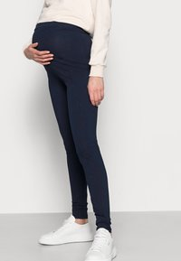 MAMALICIOUS - MLMIRA PINTUCK - Leggings - navy blazer - 3
