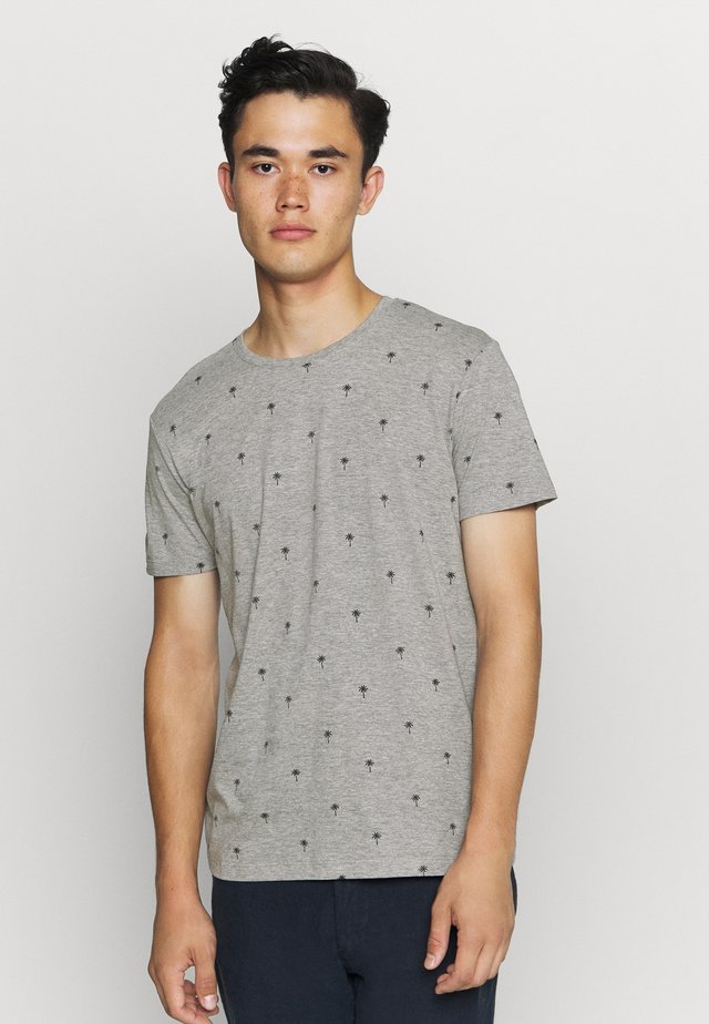 PALM  - T-shirt con stampa - medium grey