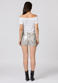 Stockerpoint - BACCARA - Leather trousers - starlight silver - 2