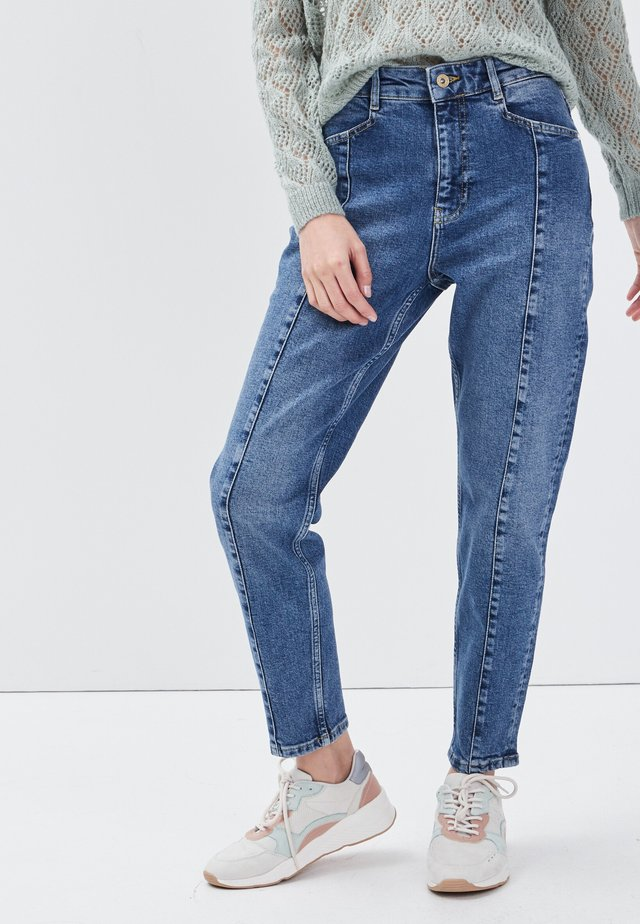 MIT HOHER TAILLE - Jeans baggy - denim stone